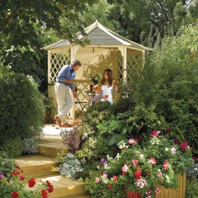 9 x 8 Rowlinsons Gainsborough Garden Gazebo